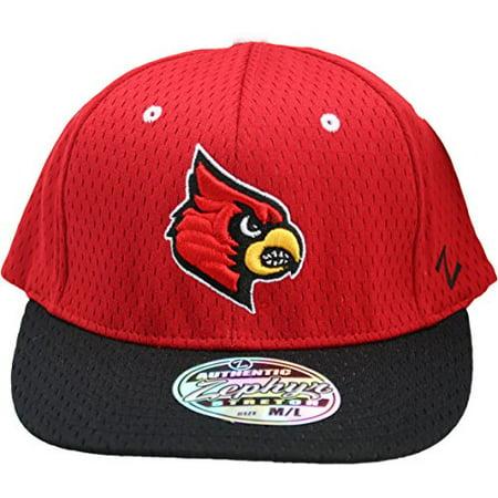7b69b24e3a2b NCAA Zephyr Louisville Cardinals Jersey Mesh Flat Bill Flex Fit ...