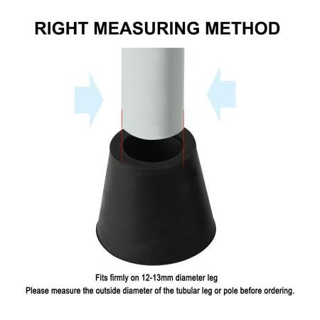 "Rubber Leg Cap Tip Cup Feet Cover 12mm 1/2"" Inner Dia 10pcs for Furniture Table - image 4 de 7"