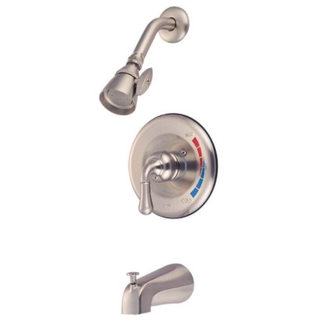 Kingston Brass Kb638T Tub-Shower Faucet Pressure Balanced With Temperature Limit Stop - Satin Nickel Finish - image 1 of 1