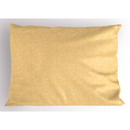 Abstract Pillow Sham Hand Drawn Style Wavelike Lines In
