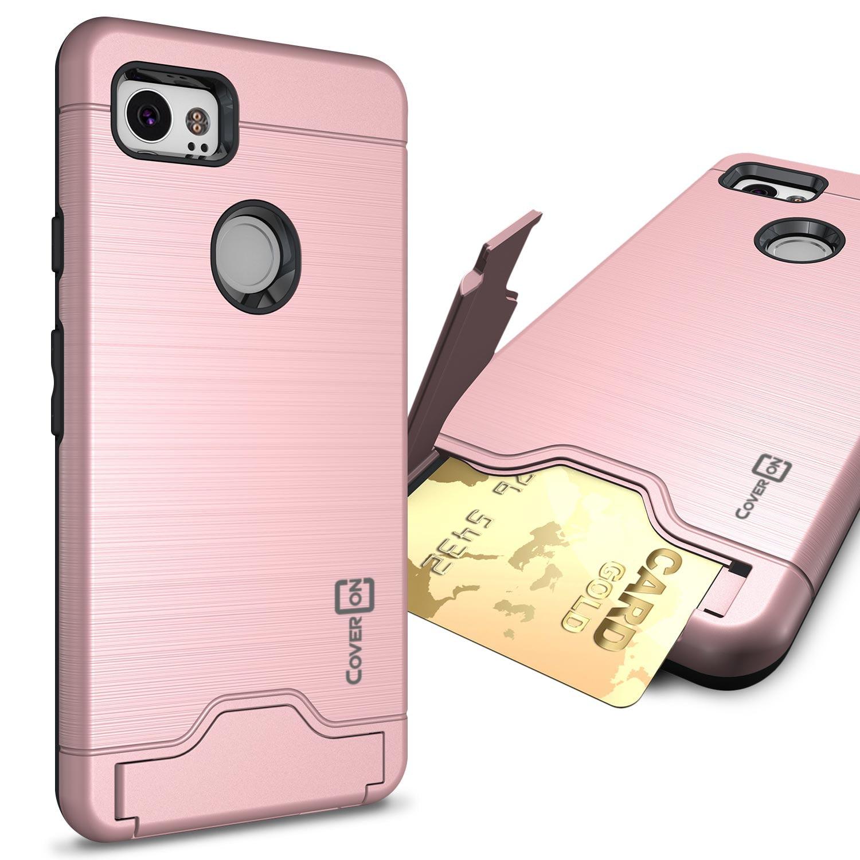 CoverON Google Pixel 2 XL / 2XL Case, SecureCard Series Hybrid Kickstand Phone Cover