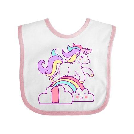 Unicorn 1st Birthday Baby Bib for $<!---->