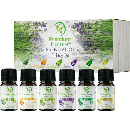 Aromatherapy Essential Oils Gift Set 10 ml 6 Pack - Pure Natural Essential Oil for Diffusers Humidifiers & Carrier Oils Mothers Day Gifts Idea for Her/Him Best Beauty Gift Limited Edition 2.0 - Gatsby Gift Ideas