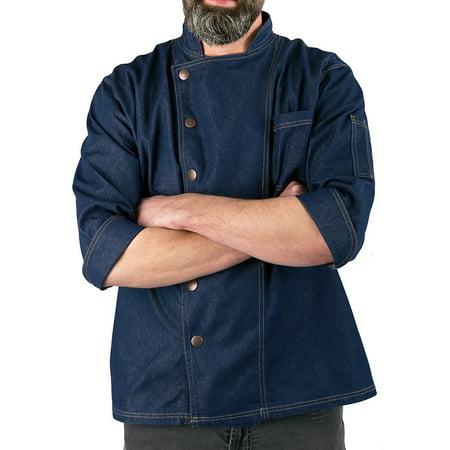 Men's Denim Snap Front Chef Coat ()