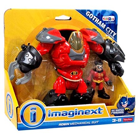 Imaginext ROBIN Mechanical Suit Gotham City Exclusive Figure Playset