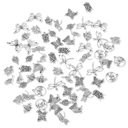 DIY Jewelry Making Tools Black Oxidized Silvertone Set of 66 Findings (Photo Jewelry Making)