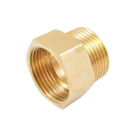 31mm Polished Brass (Unique Bargains Brass 32 x 31mm Thread Straight Hex Bushing Water Hose Connector )