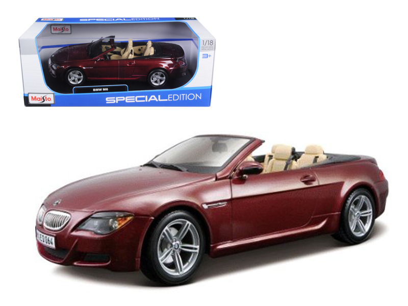 BMW M6 E64 Convertible Burgundy 1 18 Diecast Model Car by Maisto by Diecast Dropshipper