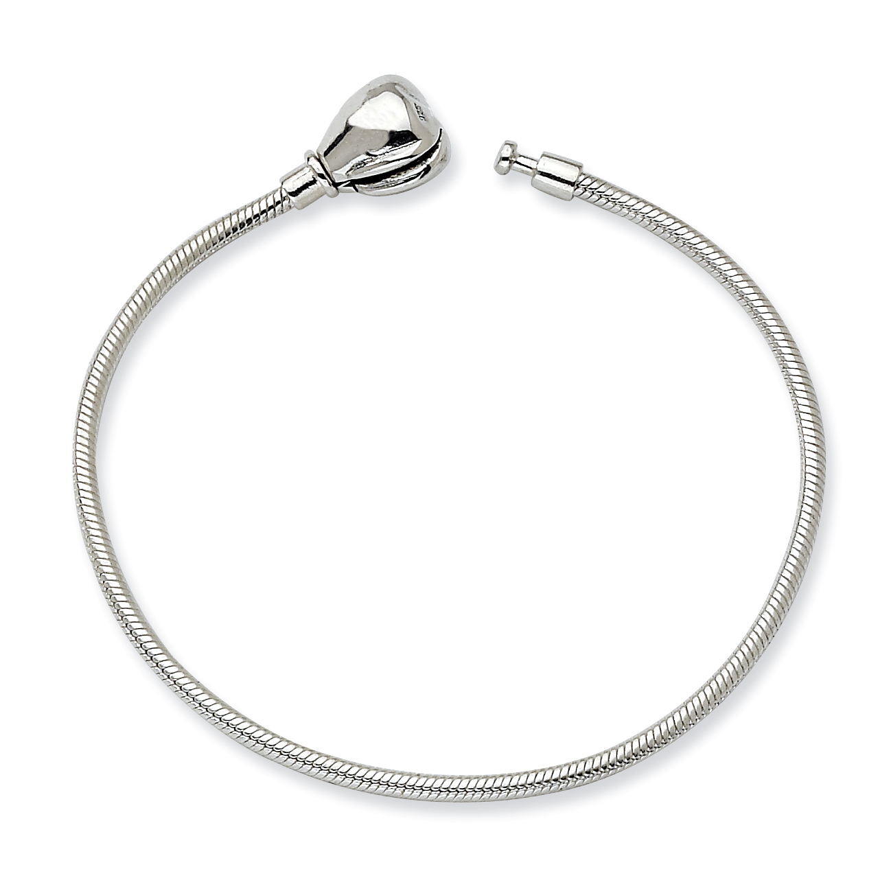 925 Sterling Silver 12cm Reflections Kids Hinged Clasp Bracelet 4.75 Inch Bead Fine Jewelry Gifts For Women For Her - image 2 de 2
