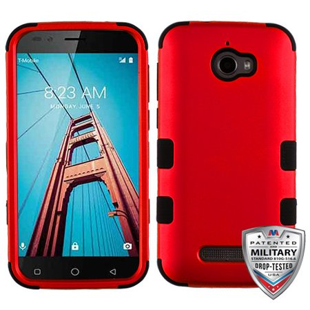 brand new 4ba77 c33cb For Coolpad Defiant 3632 TUFF Hybrid Phone Impact Armor Protector Case Cover