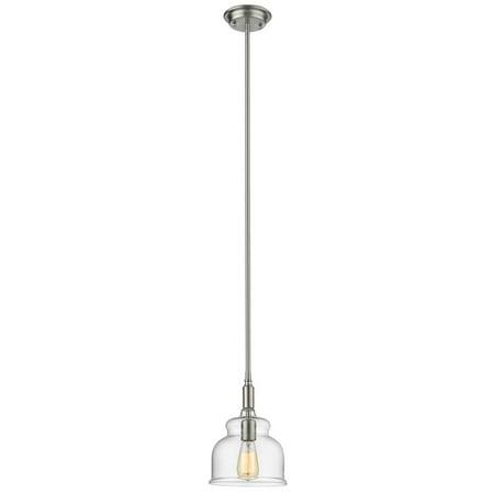 CHLOE Lighting ZOE Transitional 1 Light Brushed Nickel Ceiling Mini Pendant 8
