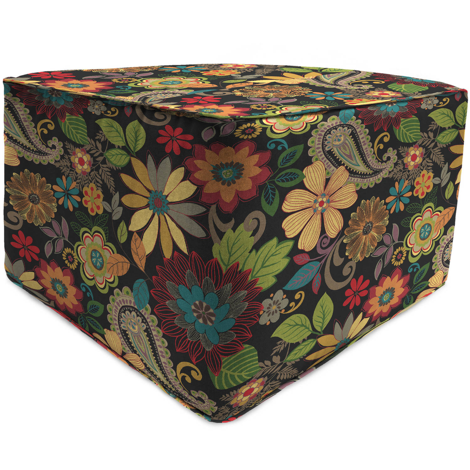 Jordan Manufacturing Outdoor Patio Square Pouf Ottoman
