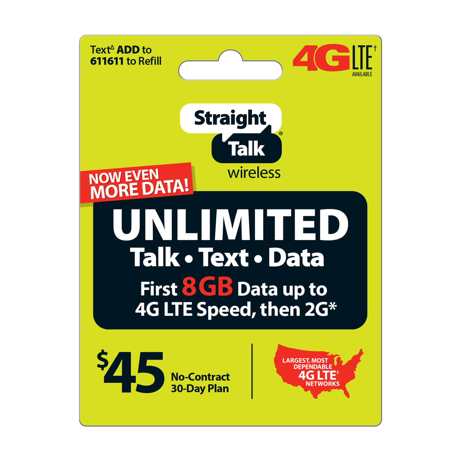 Straight Talk $45 Unlimited 30 Day Plan (Email Delivery)