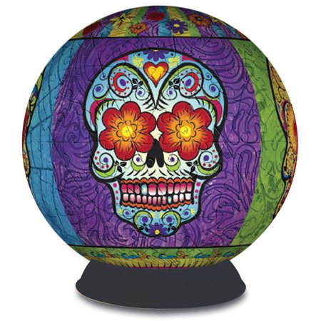 3D Puzzle Sphere - Day of the Dead ()