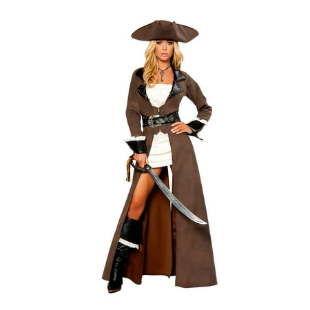 Womens Sexy Deluxe Pirate Captain (Women's Sexy Captain's Wench Costumes)
