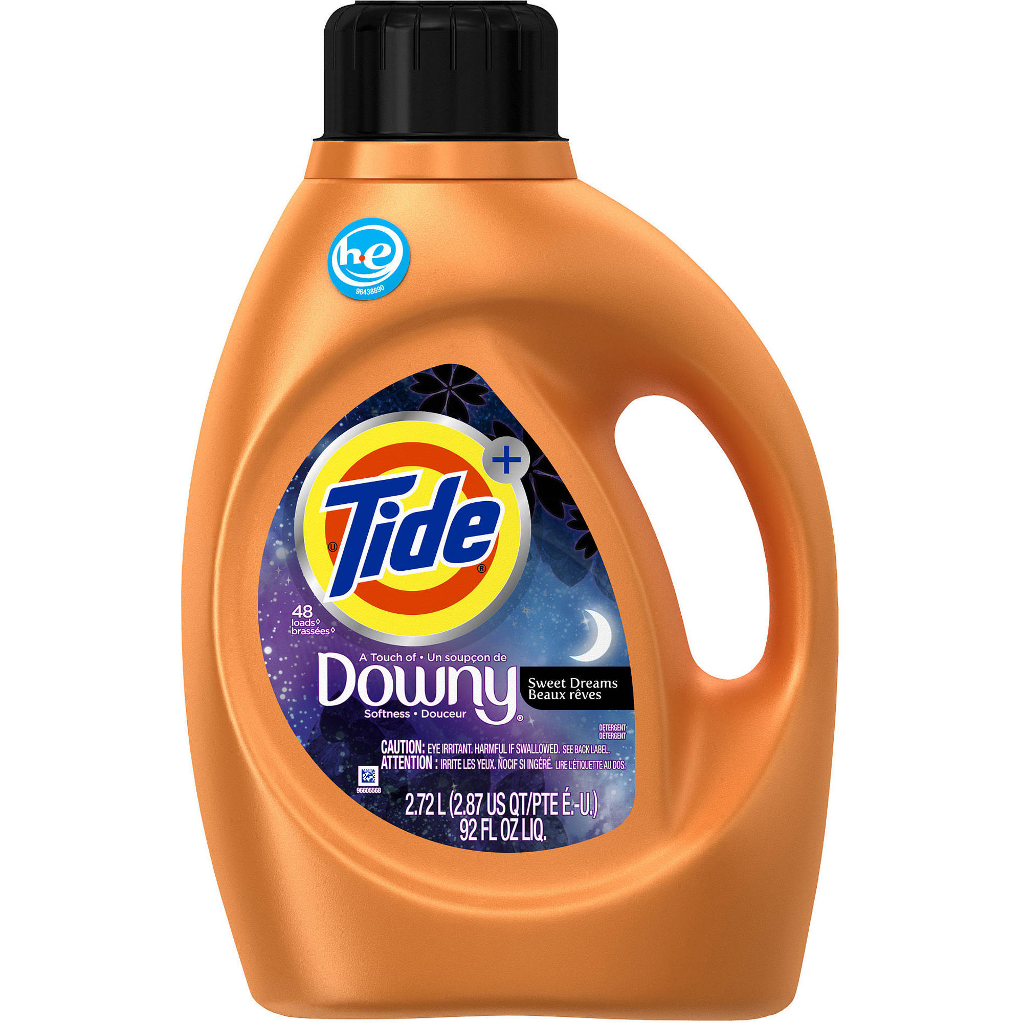 Tide Plus Downy Sweet Dreams HE Turbo Clean Liquid Laundry Detergent, 48 Loads 92 oz