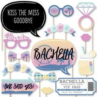 Bachella - Palm Springs Boho Bachelorette Party Photo Booth Props Kit - 20 Count