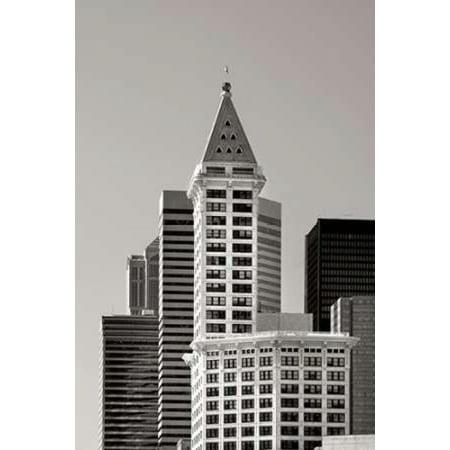Smith Tower BW Canvas Art - Douglas Taylor (12 x 18)