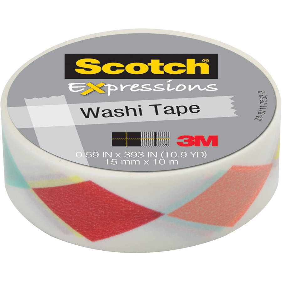 "Scotch Expressions Washi Tape, .59"" x 393"", Diamonds"
