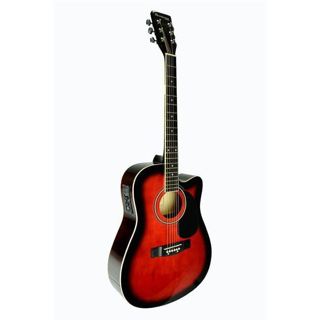 Bridgecraft USA GA415C-RDS Huntington Dreadnought Cutaway Acoustic-Electric Guitar,... by Guidecraft