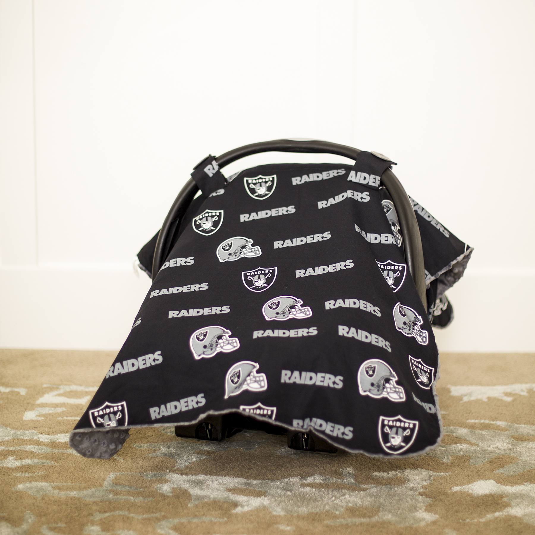 Baby Fanatic Car Seat Canopy, Oakland Raiders