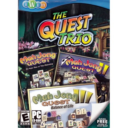 The Quest Trio: Set of 3 Mah Jong PC Games~  Mahjong Quest I + Mahjong Quest II + Mahjong Quest