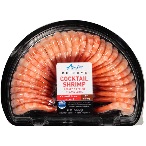 Aqua Star Reserve Cocktail Shrimp with Sauce, 25 count, 1.25 lbs