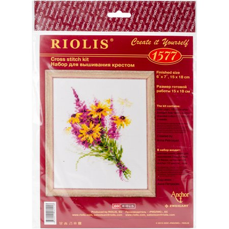Bouquet Needlepoint (Bouquet with Coneflowers Counted Cross Stitch Kit, 6