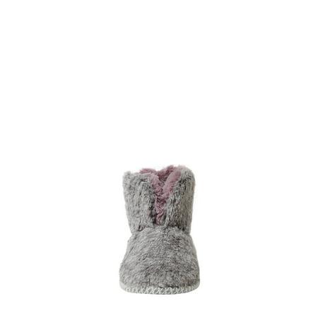 DF by Dearfoams Women's Furry Bootie Slippers