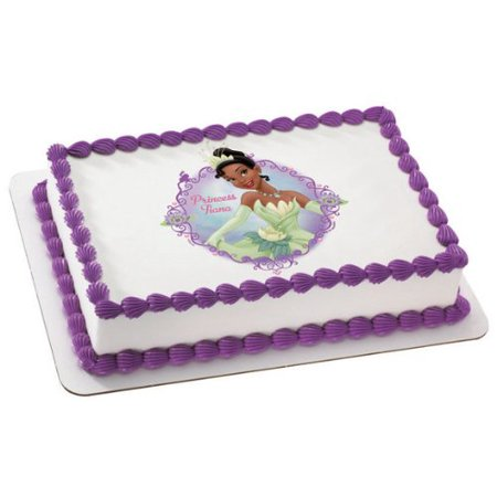 Princess & the Frog Princess Tiana Personalized Edible Frosting Image Cake - Frog Cake Toppers