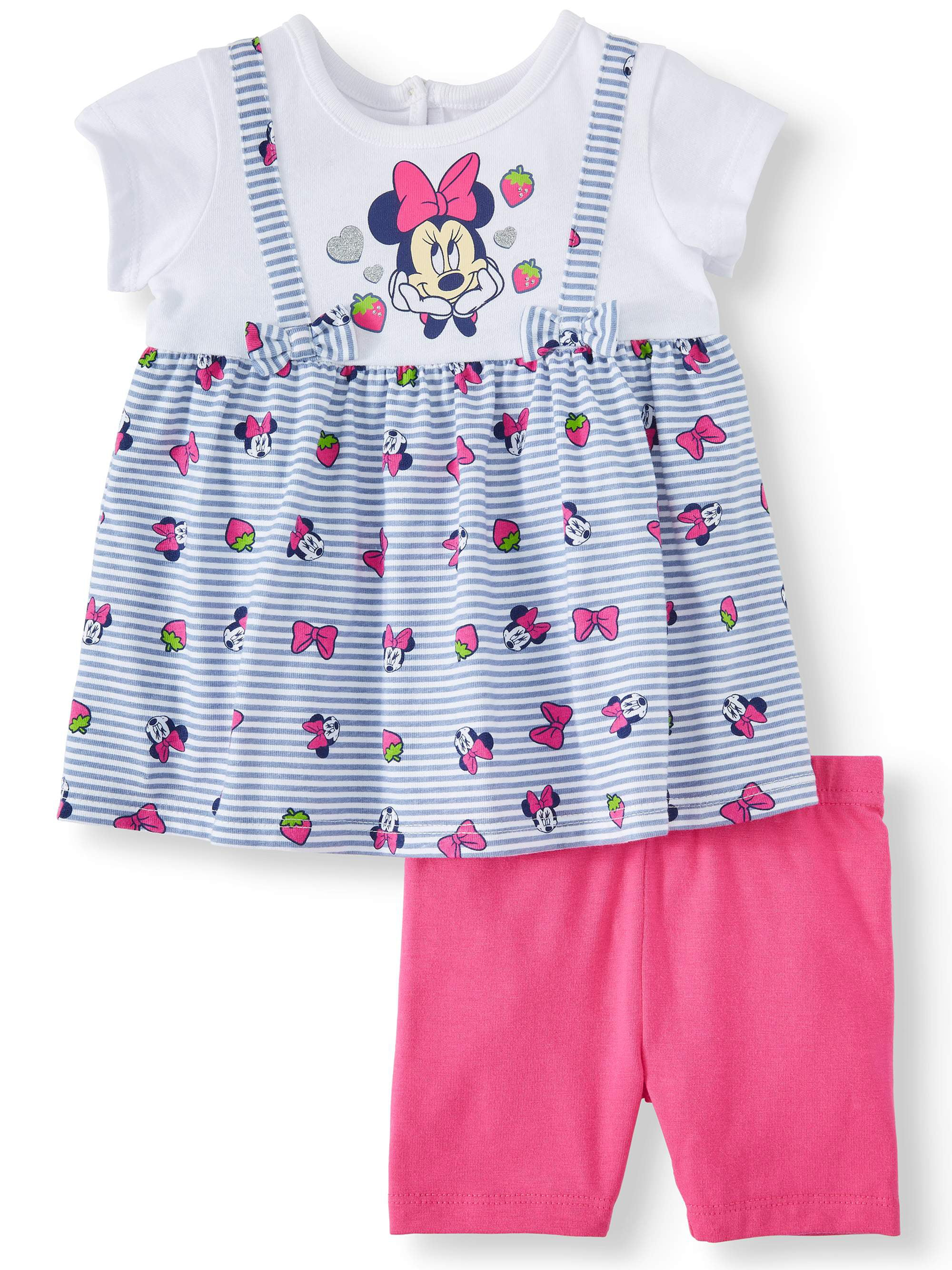 Red White Blue Bows. Disney Minnie Mouse Toddler Girls Bike Short Set