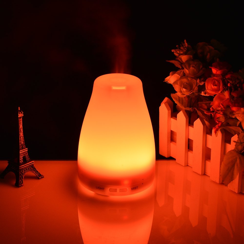 AGPtek Rainbow LED Ultrasonic Air Humidifier Purifier Aroma Diffuser by ImageStore