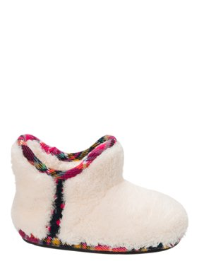 f4b5166cf9c6e8 Product Image DF by Dearfoams Girls  Pile Bootie with Trim Slippers