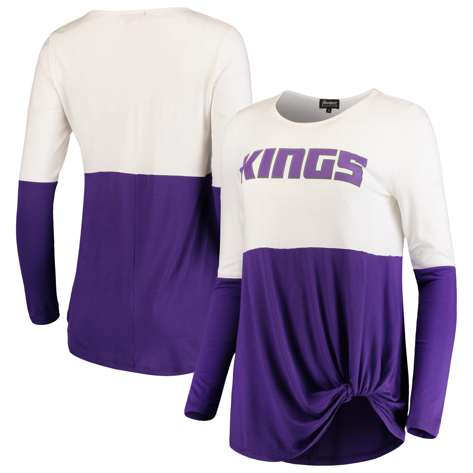 Sacramento Kings Women's In It To Win It Colorblock Long Sleeve T-Shirt - Purple