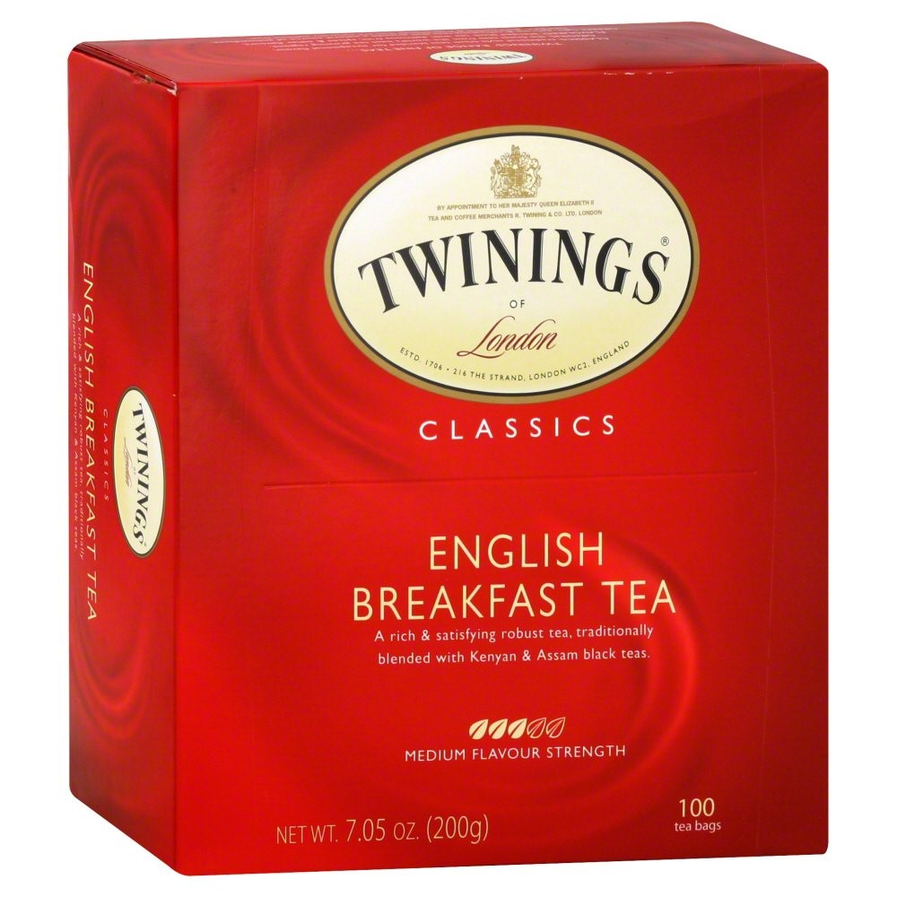 Twinings English Breakfast Black Tea, 100 Ct