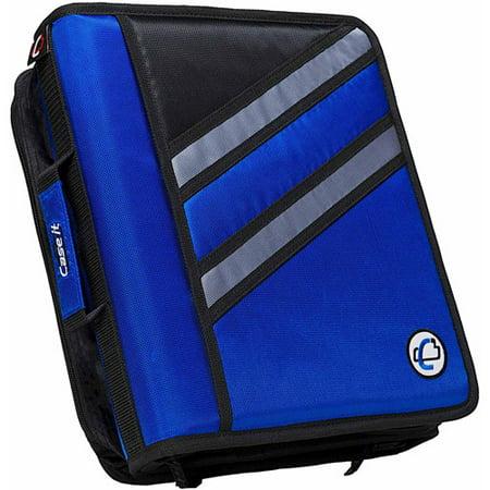 Case-it 1.5 inch dual-z zipper binder with 3 inch capacity, -