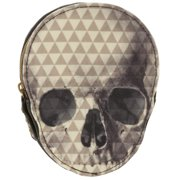 Skull Coin Purse Pyramid Studded Zip Change Wallet