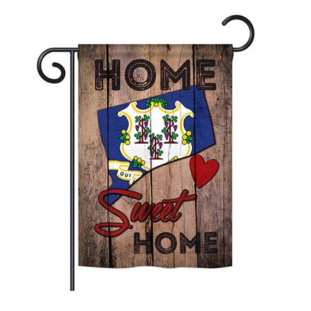 Ornament Collection - State Connecticut Home Sweet Home Americana - Everyday States Impressions Decorative Vertical Garden Flag 13