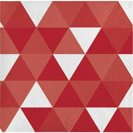 Fractal Classic Red Beverage Napkin, 16 ct (Classic Beverage)