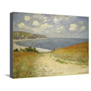 Path in the Wheat at Pourville, 1882 Monet Impressionism Beach Seascape Coastal Landscape Stretched Canvas Print Wall Art By Claude Monet