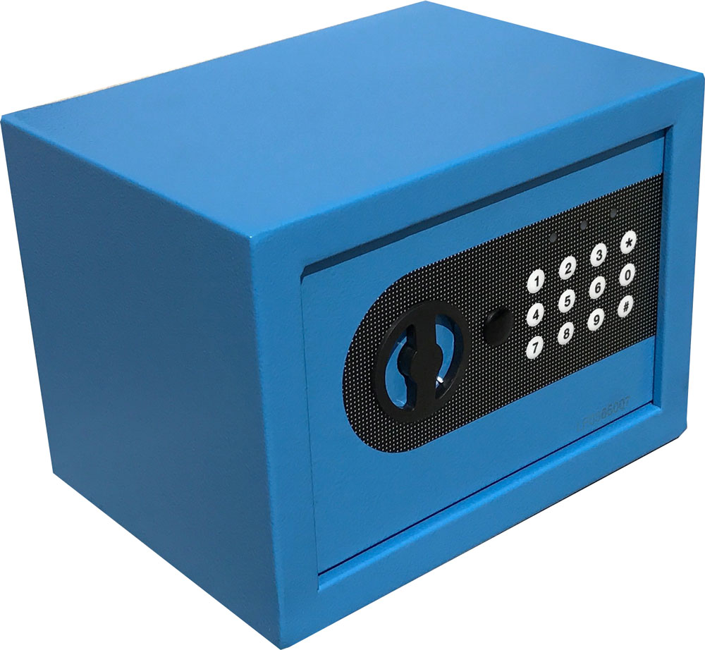 AbleHome DIGITAL ELECTRONIC SAFE SECURITY BOX WALL JEWELRY GUN CASH BLUE