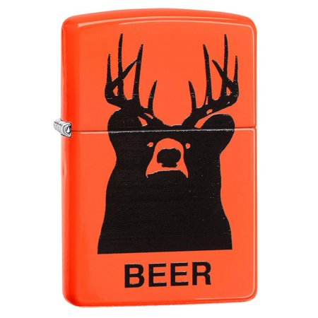 Navy Matte Lighter - ZIPPO BEER BEAR ORANGE MATTE LIGHTER