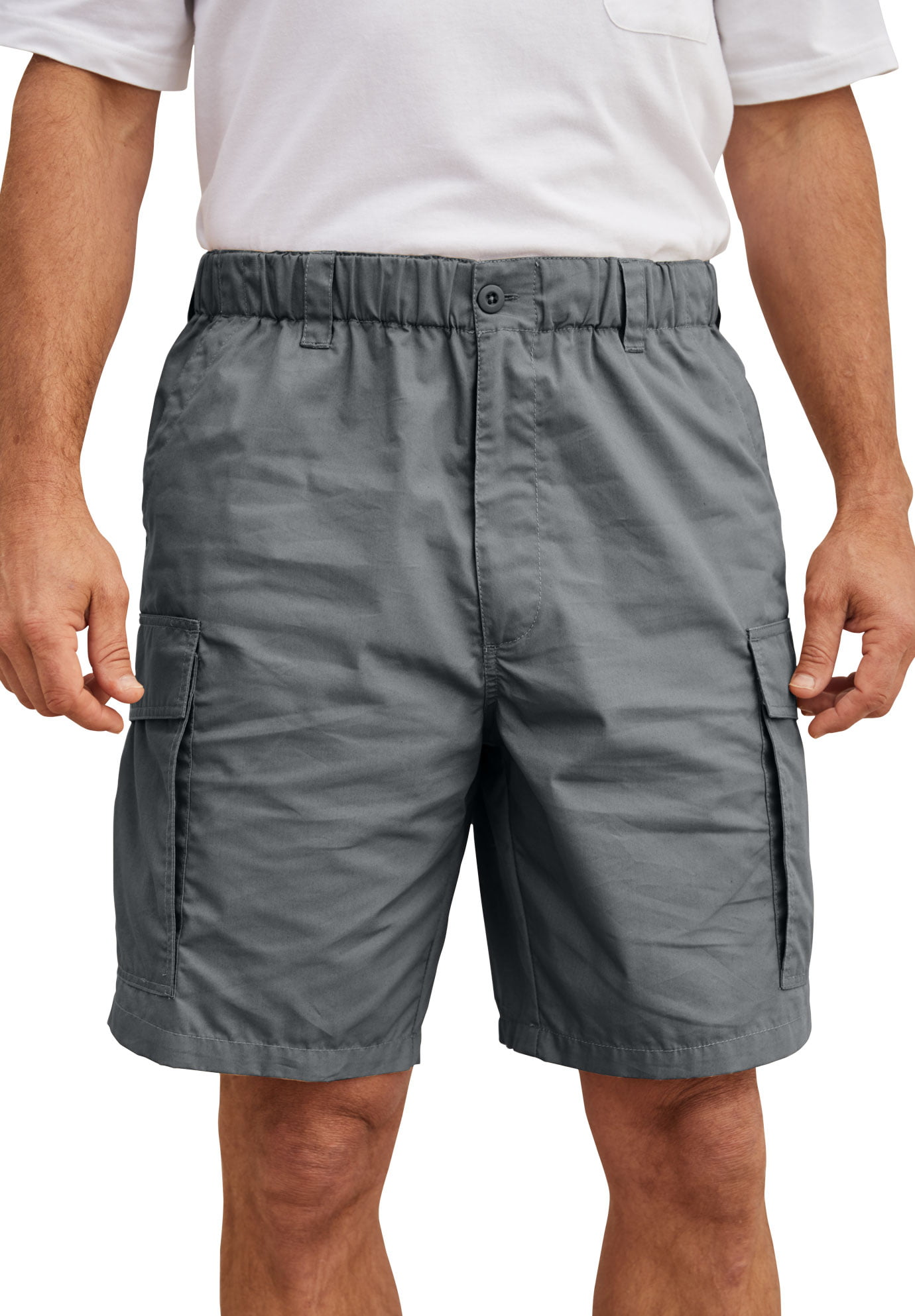 Chickle Mens 3 4 Loose-Fit Long Cargo Shorts M Army Green