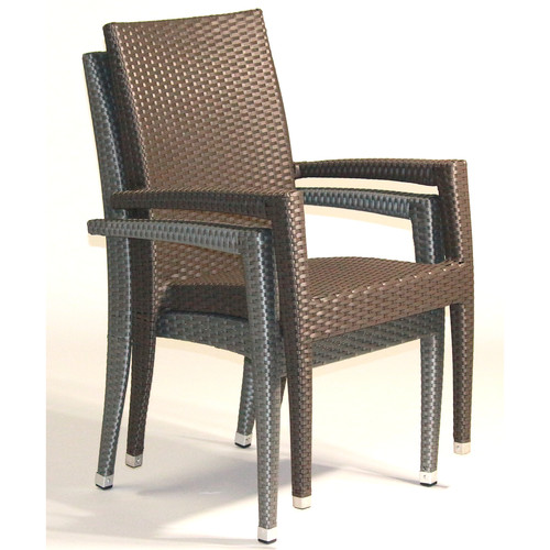 Infinita Corporation Venice Stacking Patio Dining Chair with Cushion (Set of 6)