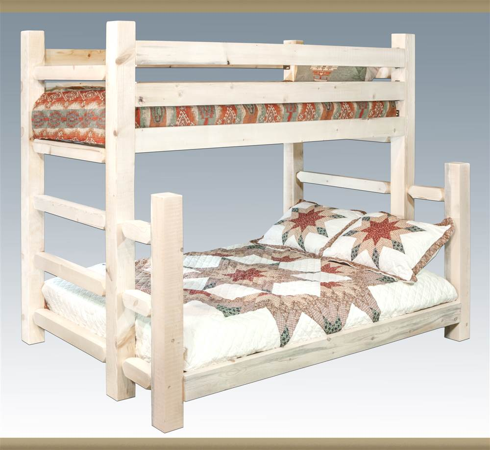 Wooden Twin Over Full Bunk Bed
