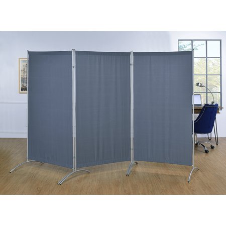 Galaxy Gray Indoor 3-panel Room Divider with Metal Tubing Frame and Water Resistant - Cardboard Room Divider