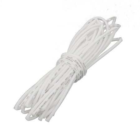 9.8Ft Long 0.6mm Inner Dia Polyolefin Insulated Heat Shrink Tube Wire Wrap White Insulated Wrapping Wire
