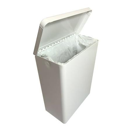 S.A.C. Sanitary Napkin Receptacle, White Steel