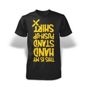 Stronger RX Black Hand Stand Push Up Tee Shirt, Extra Large