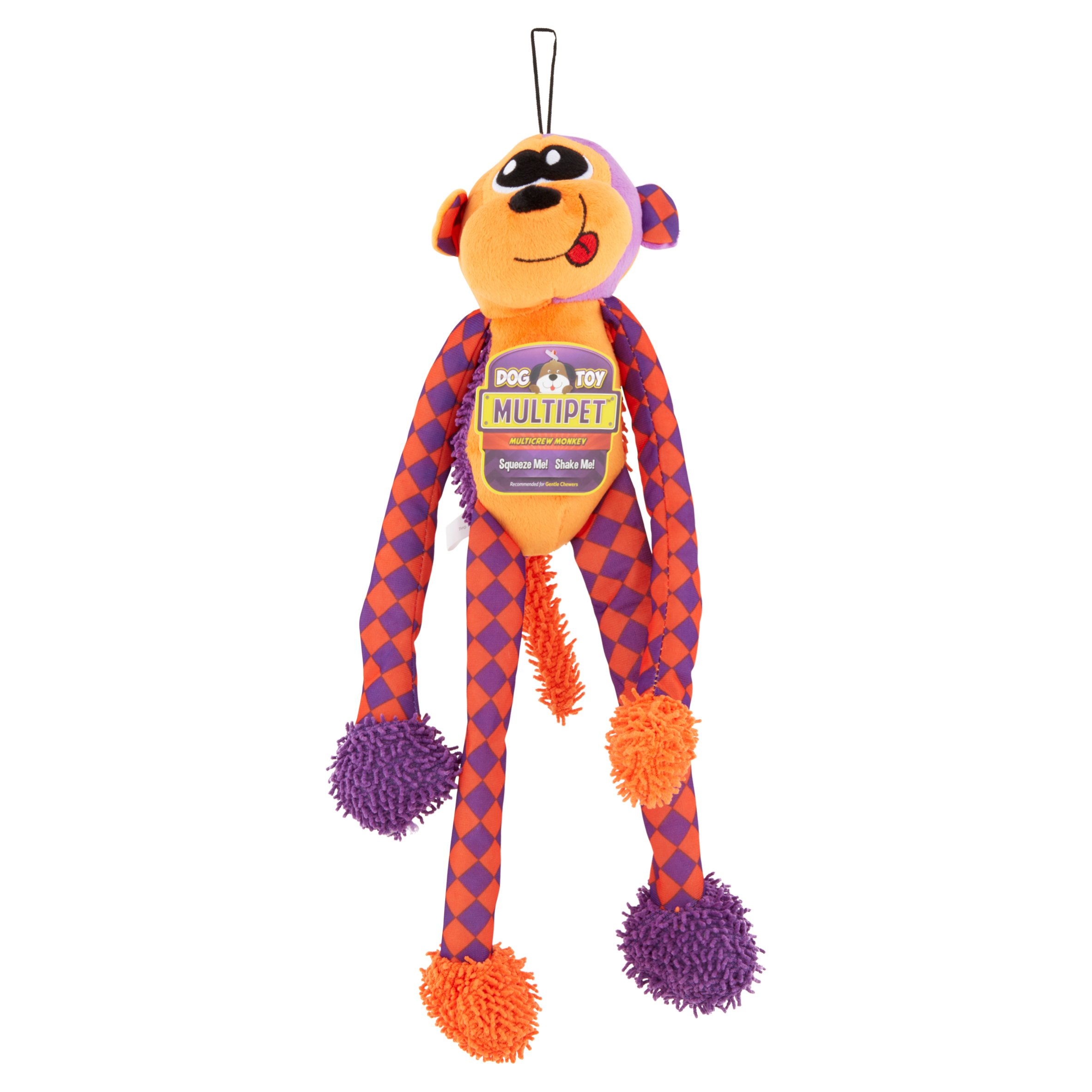 Multipet Dog Toy Multicrew Monkey Color May Vary